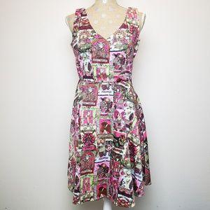 IXIA Modcloth Horoscope Zodiac Pattern Flare Dress